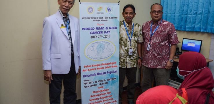 Peringatan Hari Kanker Kepala Leher Sedunia di SMF Ilmu Kesehatan T.H.T.K.L Unair